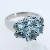 Swiss-Blue Topaz 925 Sterling Silver Ring