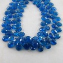 Neon Blue Apatite 6-7mm Pear Shape Briolette Strand