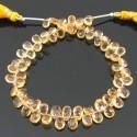 Citrine 6-7mm Pear Shape Briolette Strand