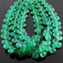 Green Onyx 6-7mm Heart Shape Briolette Strand
