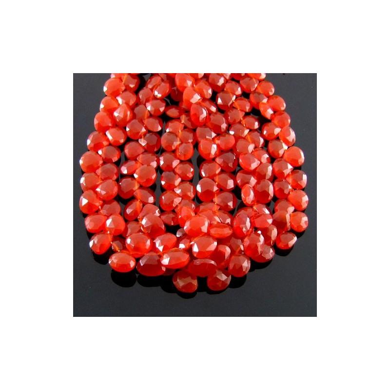 Carnelian 6-7mm Heart Shape Briolette Strand