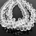 Crystal Quartz 8-9mm Drops Shape Briolette Strand