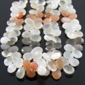 Multi Moonstone 10-12mm Pear Shape Briolette Strand