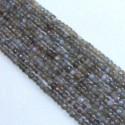 Grey Moonstone 3.5-4mm Rondelle Shape Bead Strands