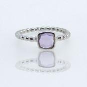 Pink Amethyst CZ 925 Sterling Silver Ring