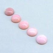 23 Cts. Pink Opal 12mm Round Shape Cabochon Parcel (5 Pcs.)