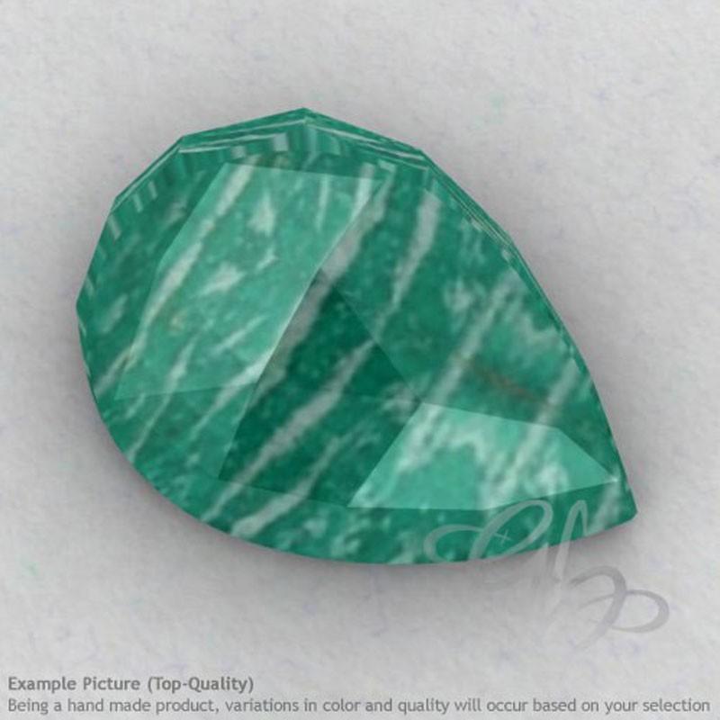 Amazonite Pear Shape Calibrated Cabochons