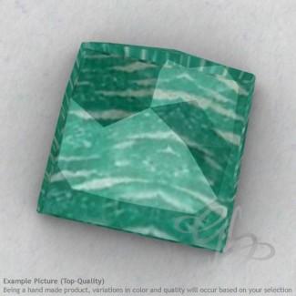 Amazonite Square Shape Calibrated Cabochons