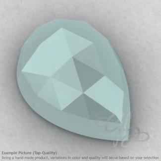Aqua Chalcedony Pear Shape Calibrated Cabochons