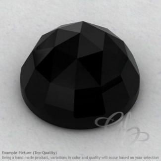Black Onyx Round Shape Calibrated Cabochons