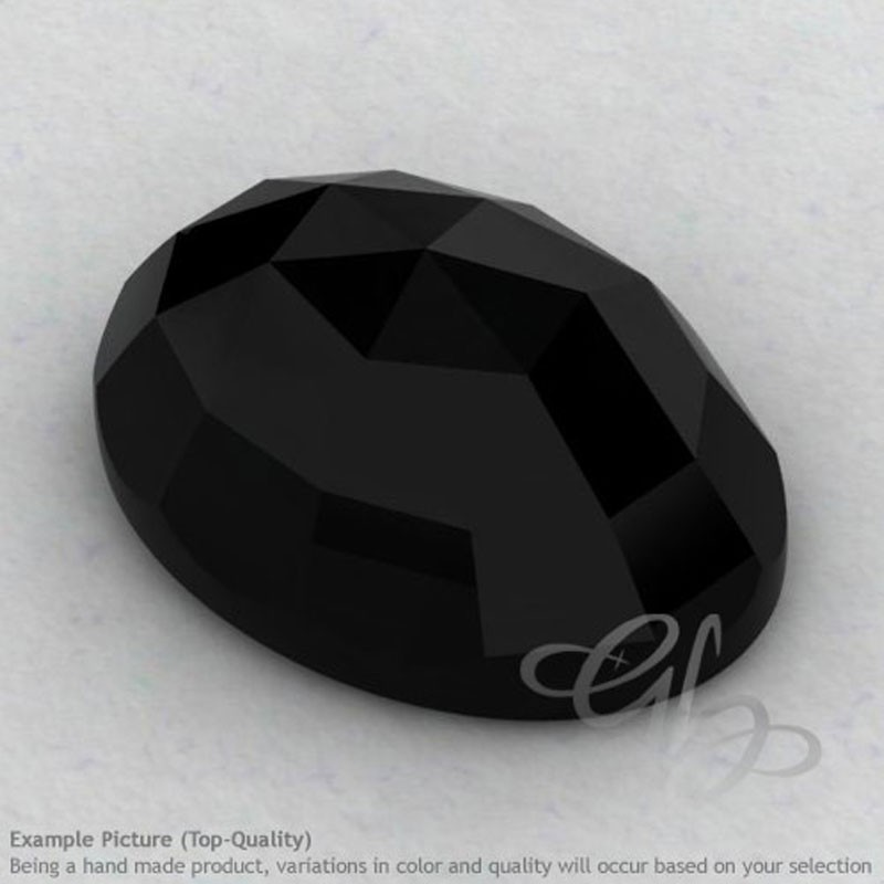 Black Onyx Oval Shape Calibrated Cabochons