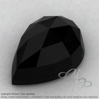 Black Onyx Pear Shape Calibrated Cabochons