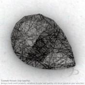 Black Rutile Pear Shape Calibrated Cabochons