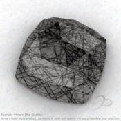 Black Rutile Square Cushion Shape Calibrated Cabochons