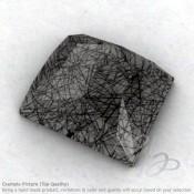 Black Rutile Baguette Shape Calibrated Cabochons