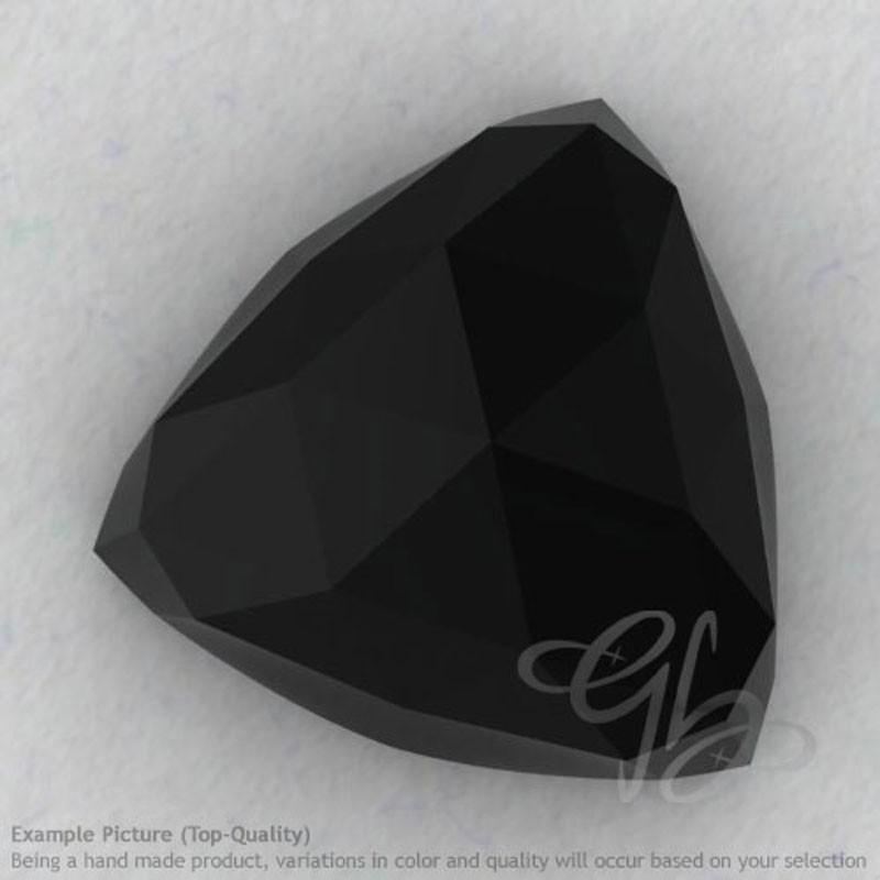 Black Spinel Trillion Shape Calibrated Cabochons