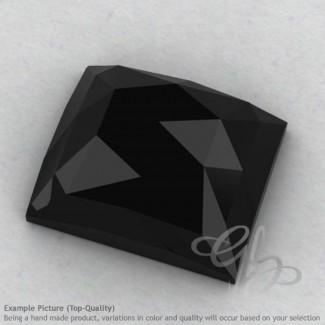 Black Spinel Baguette Shape Calibrated Cabochons