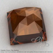 Cognac Quartz Square Shape Calibrated Cabochons