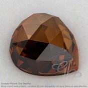 Cognac Quartz Heart Shape Calibrated Cabochons
