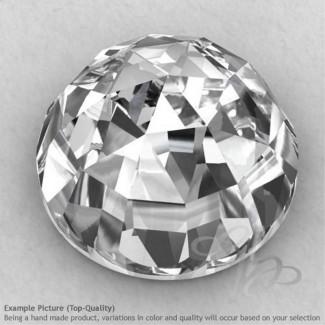 Crystal Quartz Round Shape Calibrated Cabochons