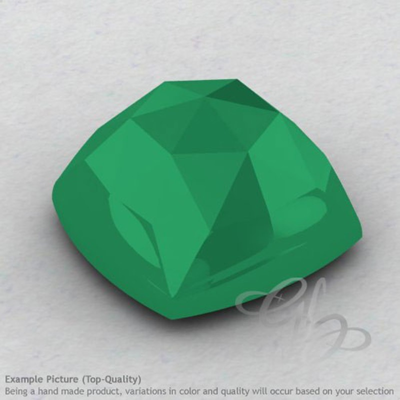 Green Onyx Square Cushion Shape Calibrated Cabochons