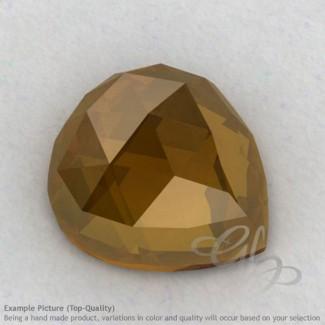 Honey Quartz Heart Shape Calibrated Cabochons