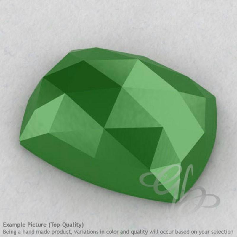Natural Green Chalcedony Cushion Shape Calibrated Cabochons