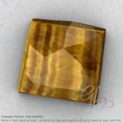 Yellow Tiger Eye Square Shape Calibrated Cabochons