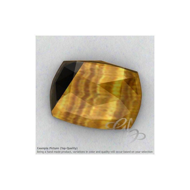 Yellow Tiger Eye Cushion Shape Calibrated Cabochons