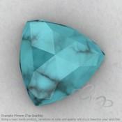 Turquoise Trillion Shape Calibrated Cabochons