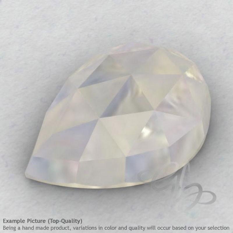 Rainbow Moonstone Pear Shape Calibrated Cabochons