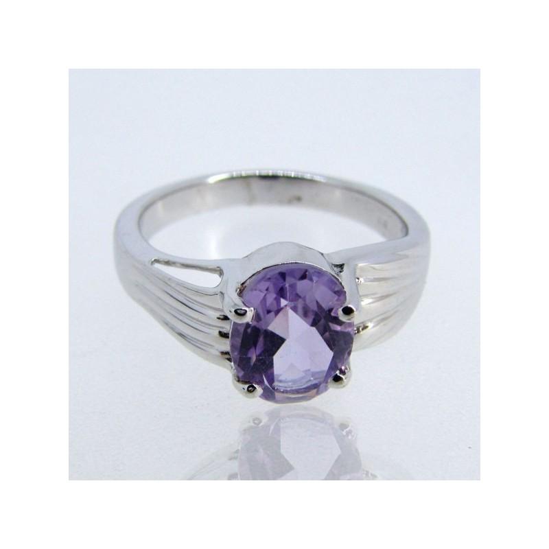 Brazilian Amethyst 925 Sterling Silver Ring