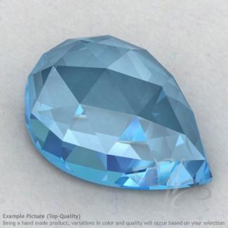 Sky Blue Topaz Pear Shape Calibrated Cabochons