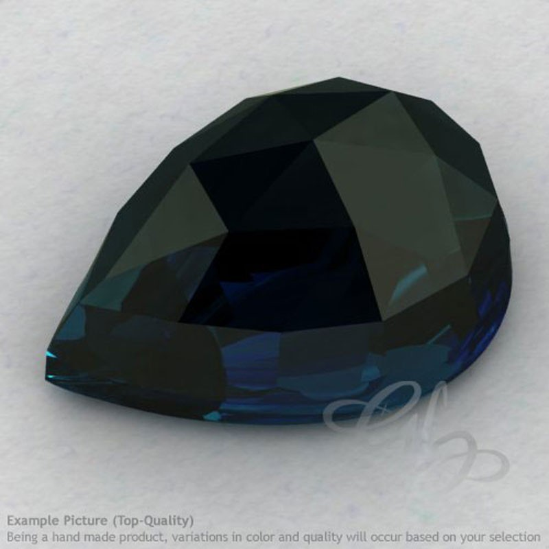 London Blue Topaz Pear Shape Calibrated Cabochons