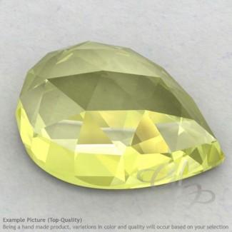 Lemon Quartz Pear Shape Calibrated Cabochons