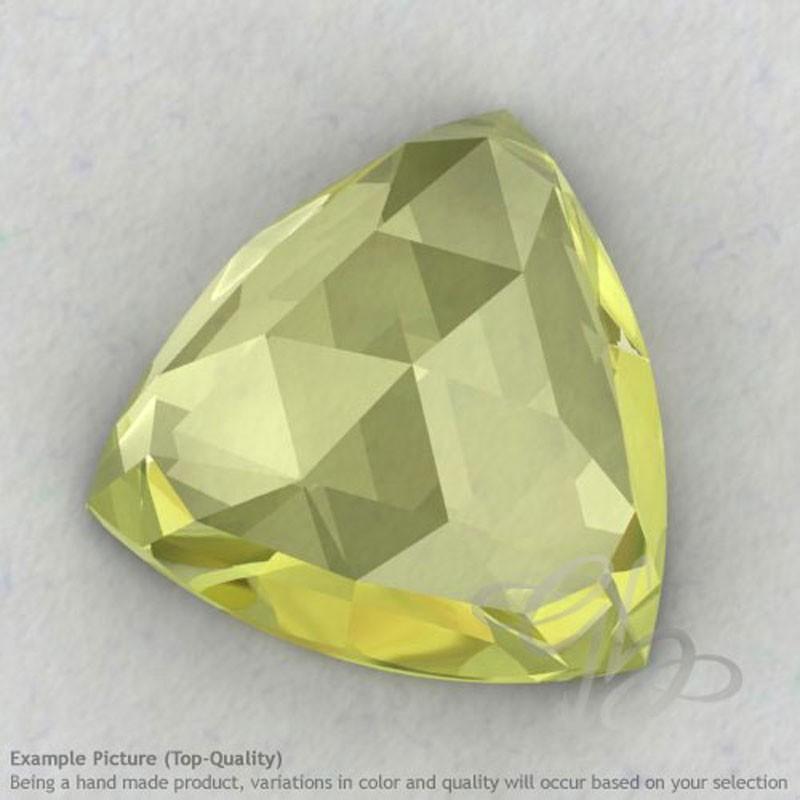 Lemon Quartz Trillion Shape Calibrated Cabochons
