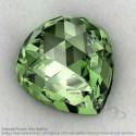 Green Amethyst Heart Shape Calibrated Cabochons