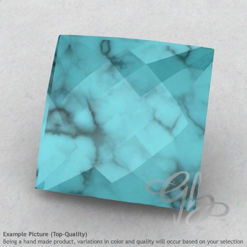 Turquoise Square Shape Calibrated Briolettes