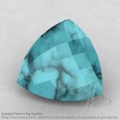Turquoise Trillion Shape Calibrated Briolettes