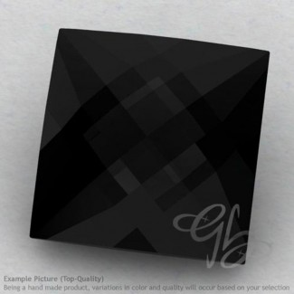 Black Onyx Square Shape Calibrated Briolettes