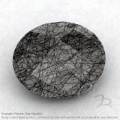 Black Rutile Oval Shape Calibrated Briolettes