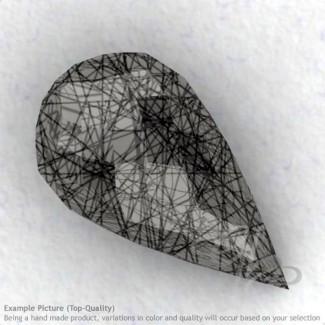 Black Rutile Drops Shape Calibrated Briolettes