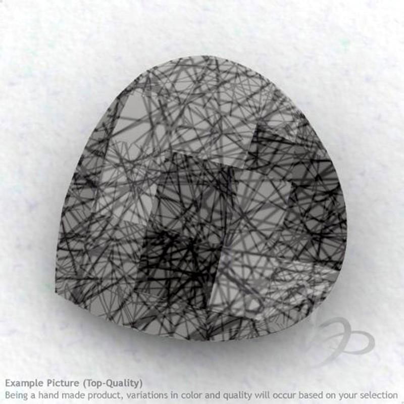 Black Rutile Heart Shape Calibrated Briolettes