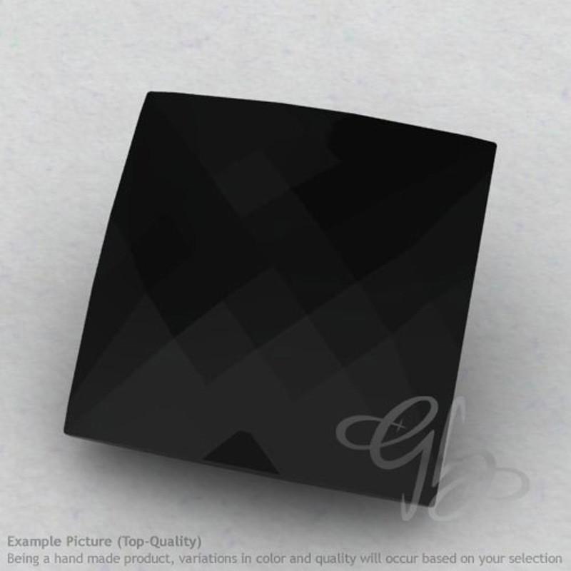 Black Spinel Square Shape Calibrated Briolettes