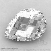Crystal Quartz Pear Shape Calibrated Briolettes