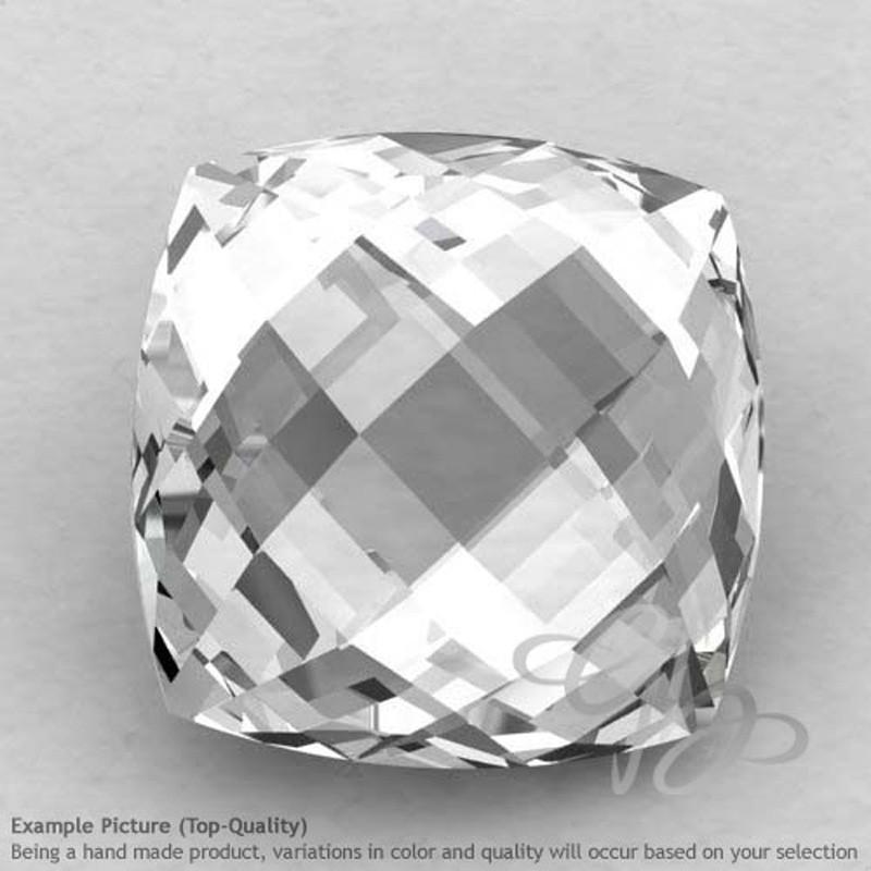 Crystal Quartz Square Cushion Shape Calibrated Briolettes