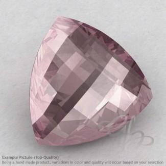 Rose Quartz Trillion Shape Calibrated Briolettes