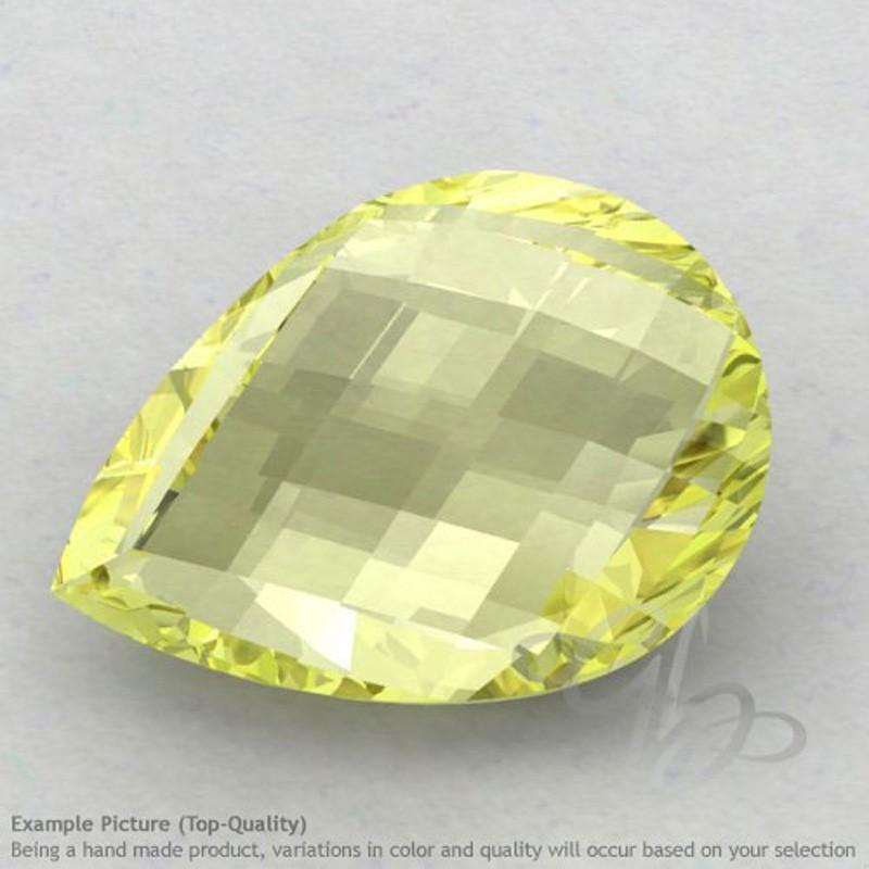 Lemon Quartz Pear Shape Calibrated Briolettes