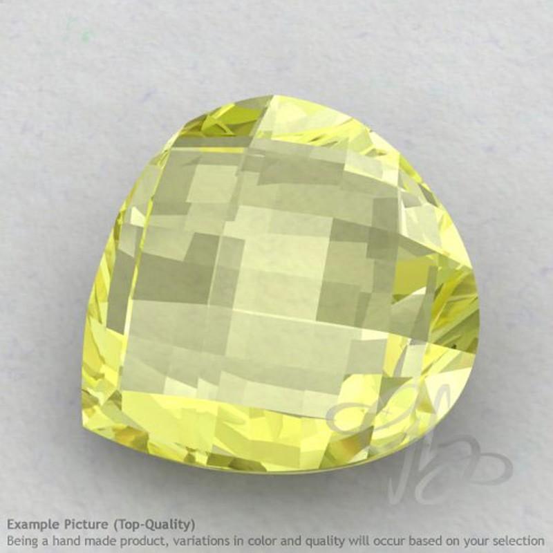 Lemon Quartz Heart Shape Calibrated Briolettes