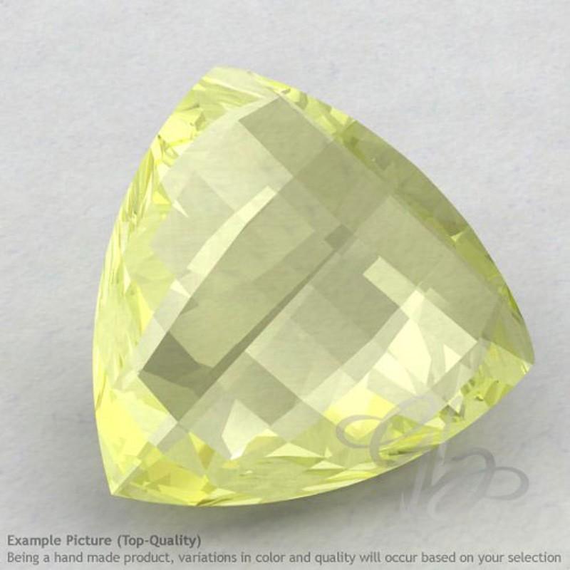 Lemon Quartz Trillion Shape Calibrated Briolettes